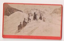 Vintage CDV Hikers on Mer de Glace Sea of Ice Mont Blanc    F. Charnaux Photo