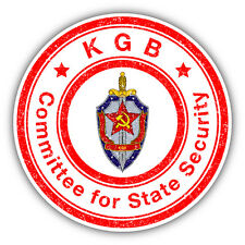 """KGB Committee For State Security Grunge Stamp Car Bumper Sticker Decal 5"""" x 5"""""""