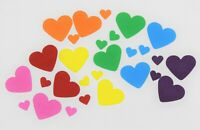 75 x RAINBOW PAPER CARD LOVE HEARTS CARD MAKING CRAFT EMBELLISHMENTS SCRAPBOOK