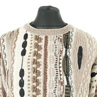 Vintage PROTEGE Cosby Sweater   Jumper Knit 3D Retro Patterned 90s