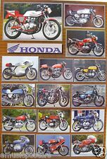 HONDA MOTORCYCLE POSTER FROM ASIA: 15 Classic Japanese Motor Bikes, Cycle