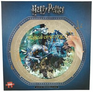 "Harry Potter The Forbidden Forest Magical Creatures 20"" Diameter 300pc Puzzle"