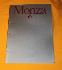 Opel Monza 1981 Prospekt Brochure Depliant Prospetto Catalog Folder Broschyr