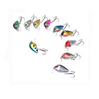 Lots 10x Fishing Lures Kinds Of Minnow Fish Bass Tackle Hooks Baits Crankbait