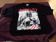 BRUTALITY Vintage Destroyed By Society NEW 2 sided Tee T Shirt XL Extra Large
