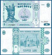 MOLDAWIEN / MOLDOVA 5 Lei 2006 UNC  P.9