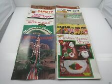 Vintage 1970's MACRAME Craft Project Pattern Magazines: Lot of 12