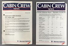 BRITISH AIRWAYS CABIN CREW NEWS 1980'S BA