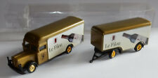 GRELL HO 1/87 CAMION TRUCK TRAILER 1956 BÜSSING 5000 VIN ROUGE LE FILOU IN BOX