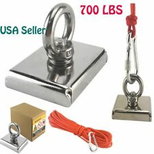 700lbs Big Fishing Magnet Hunting Pull Force Strong Neodymiumamp10m Rope