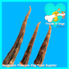 BEEF CALF TAILS 1kg Natural Not Bleached TREATS 4 DOGS Premium Pet Tooth Clean