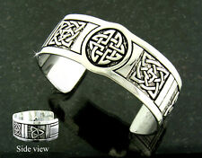Ashling Aine Pewter Celtic Five-Knot Cuff Bracelet