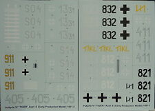 """PzKpfw VI """" Tiger I """", Early Version, 2 Decal Sheets, 1:16, NEW"""