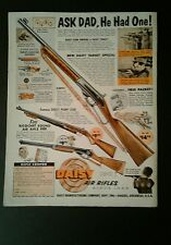 1960 Daisy B B Gun Western Model Air Rifle Toy 10 1/2 x 13 1/2 Large Print AD