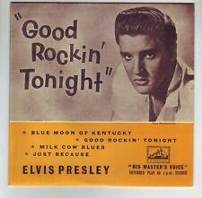 ELVIS GOOD ROCKIN TONIGHT HMV EP ON COLOURED VINYL LIMITED EDITION NOW DELETED