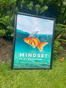 Mental Health Mindset Is Everything Motivational Quote Cotton Canvas Poster A3
