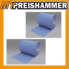 2 x Putztuchrolle blau 3-lagig Putztücher Reinigungstücher Putzrolle Putzpapier