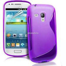 ACCESSOIRES HOUSSE ETUI COQUE SILICONE GEL S VIOLET Samsung Galaxy S3 mini i8190