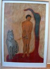 """Anna Stangl """"Nackte Frau mit Hund"""""""