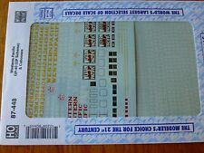 Microscale Decal HO  #87-448  Western Pacific (WP) Steel Cabooses