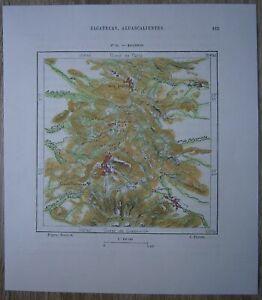 1891 Perron map ZACATECAS CITY, ZACATECAS, MEXICO (#36)