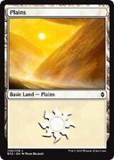 Full Art Land Plains x 10 (2 each art) (Battle for Zendikar) MTG (Mint)