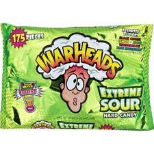 Extreme Sour Warheads Candy 175 Count Black Cherry Lemon Apple Watermelon Blue