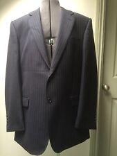 Paul Costelloe Chester para hombre traje de lana azul marino a rayas @ Pantalones Talla 42 R 30 R