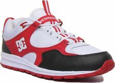 Dc Shoes Kalis Lite Dc Lite Lace Up Trainer In White Red Size Uk 6 - 12