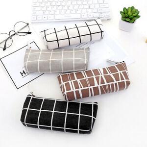 Zipper Pencil Case Pen Box School Stationery Makeup Bag Storage Pouch Students