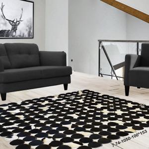 Modern floor rugs patchwork cowhide rug Bohemian new rugs online AU 7-74