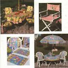 Deck Patio Umbrella Cover Director's Chair Pad Tablecloth Place Mat Sew Pattern