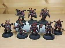 8 PLASTIC WARHAMMER CHAOS SPACE MARINES PAINTED (1251)