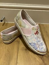 Ted Baker plimsole size 6 Trainers/slip on Rose Gold Trim and Detail Flats Shoes