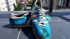 Rare Mens Royal Blue 1970s Vintage Adidas Rekord shoes trainers size 9