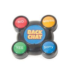 Backchat Hablador botón novedad sí no tal vez respuesta Trasera Zumbador Stocking Relleno