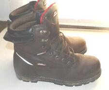 """DICKIES size 14"""" BROWN-STEEL TOE-LEATHER-WATERPROOF-ELEC.HAZARD-SAFTY BOOTS"""
