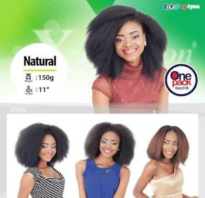 X-Pression Natural Weave Extension Yaki Afro Kinky Straight Synthetic Hair Col 1