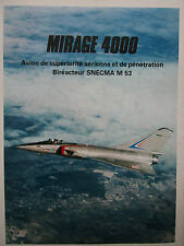 11/1979 PUB DASSAULT BREGUET AVIATION SUPER MIRAGE 4000 SNECMA M.53 FRENCH AD