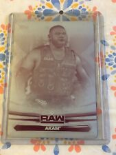 2019 Topps WWE RAW  #1  AKAM Printing plate 1/1 Magenta AOP