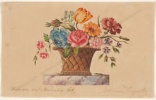 "Johann Augusta (active in Vienna) ""Flower still-life"", watercolor, 1815"