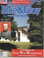 Blue & Gray Sp96 V13N4 Wartime Washington Stonewall Chancellorsville Confederate