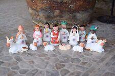 Nativity Christmas 14 piece  Quality Ceramic Set  Mexican Folk Art