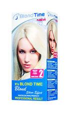 BLOND TIME SILVER EFFECT LIGHTENING KIT 2 135ML UP TO 4 LEVEL HAIR  BLEACHING