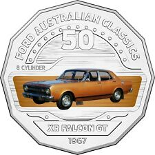 2017 RAM 50c UNCIRCULATED COLOURED COIN FORD CLASSICS - 1966-1968 XR GT FALCON
