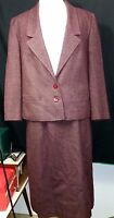 EXC Womens JACQUES Vintage Wool Tweed Suit A Line Skirt Jacket Set Small Lined