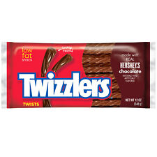 NEW TWIZZLERS TWISTS HERSHEYS CHOCOLATE 'ARTIFICIALLY FLAVORED'12 OZ USA PRODUCT