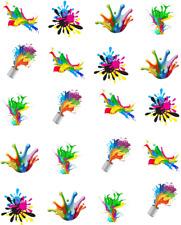 Paint Splatter Waterslide  / Water Transfer Nail Decals/Nail Art