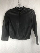 ADRIENNE VITTADINI Women's Black Leather Jacket Size Small
