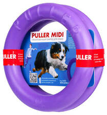 PULLER Collar Dog Training Tool 2 Rings in set Toy For Training And Fitness-20cm